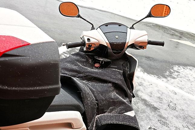 Für die winterliche Ausfahrt unverzichtbar: Der Unterleibsschutz.